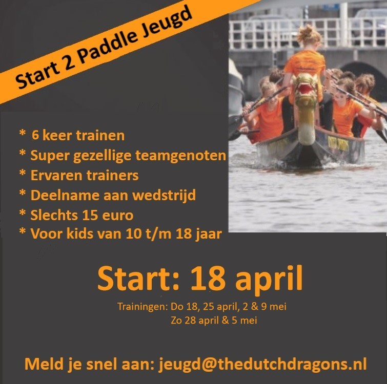 Flyer start 2 paddle jeugd